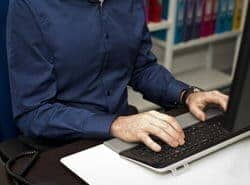 Good posture for typing